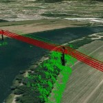 LiDAR-based Inspection Data Analysis to Calculate Vegetation Approximation Rate to OHLs